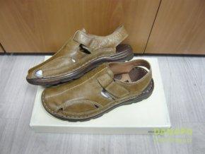 35725 panske kozene boty obuv sandaly manitu 41