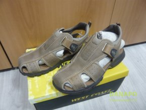 Pánské kožené sandály boty obuv West Coast vel.41