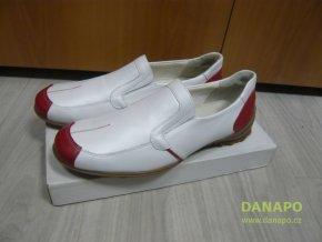35812 panske polobotky boty apache bilo cervena