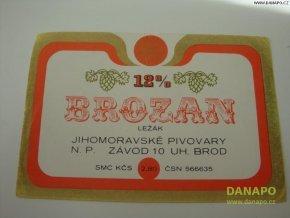 37018 pivni etiketa brozan 12pr lezak
