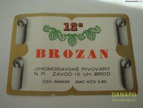 37021 pivni etiketa brozan 12 zavod uhersky brod