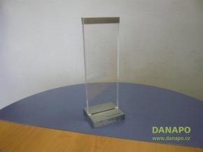 37468 plastovy kovovy stojanek stojan 290x100mm
