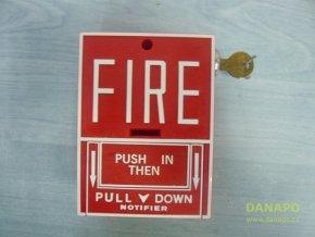 37861 2 pozarni hlasic signalizace poplach alarm fire lite model sb 10