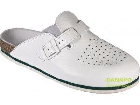 Praovní pantofle obuv s plnou špičkou bílé 3004 KLH vel. 43