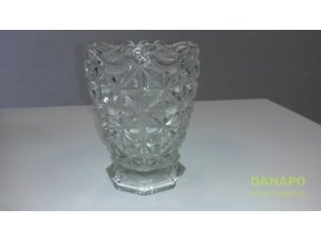 38830 sklenena brousena vaza
