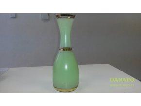 38857 sklenena zelenkava vysoka vaza