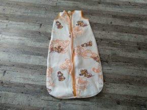Spací pytel vak kojenecký - Béžovo-oranžový 92-104