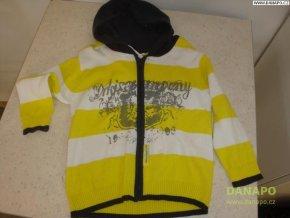 39559 svetr na zip s kapuci vel 98