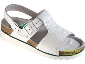 UNI pracovní zdravotní sandály bílé 1007 KLH vel. 42
