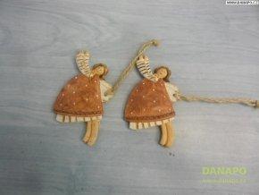 Vánoční dekorace - Sádrový andělíček Noell - 2 -