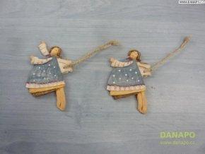 Vánoční dekorace - Sádrový andělíček Noell - 4 -