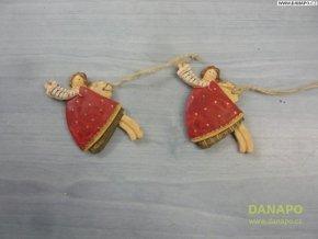 Vánoční dekorace - Sádrový andělíček Noell - 6 -