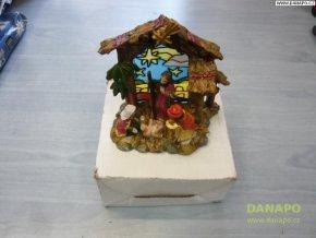 Vánoční dekorace - Sádrový Betlém s figurkami