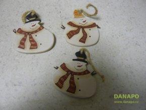 Vánoční dekorace - Sádrový sněhulák Noell