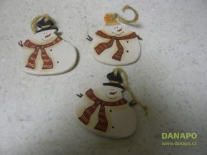 40426 vanocni dekorace sadrovy snehulak noell