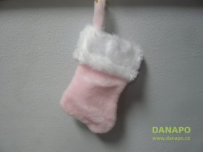 Vánoční mikulášská punčocha Prins 19cm závěsná