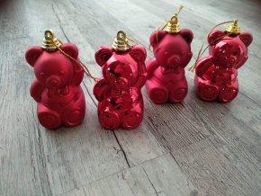 VÁNOČNÍ ZBOŽÍ Baňky - Červený medvídek sada