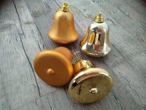 VÁNOČNÍ ZBOŽÍ Baňky - Žlutý zvonek / zvoneček sada