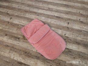 Zimní fusak do autosedačky - Růžový