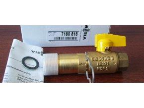 43248 viessmann gas plynovy kulovy ventil g 3 4 x rp 1 2