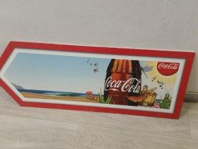 Reklama / reklamní cedule banner šipka Coca cola