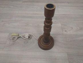 Dřevěná stará lampa / stojan na lampičku