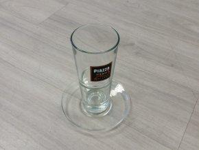 Piazza d´Oro sklenice pro Caffé Latté Macchiato s podšálkem 300 ml