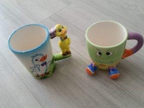 Hrnek sada dvou dětských hrnečků Kačer + Panák