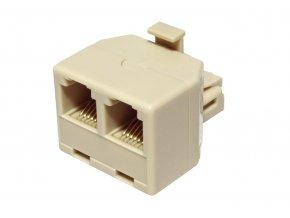 Redukce telefonní konektor 2 x zdířka RJ12 6p-6c
