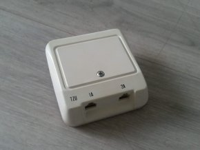 Telefonní zásuvka dvojnásobná Haricom TZU 1A2a