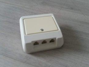 Telefonní zásuvka trojnásobná Haricom 3DS622 3x6/2