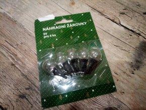 Vánoční žárovky náhradní perly 5V 0,120A  0,60W čiré