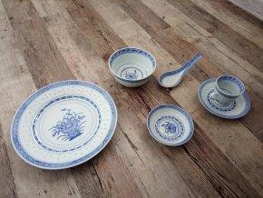 Čínský rýžový porcelán vzor květina