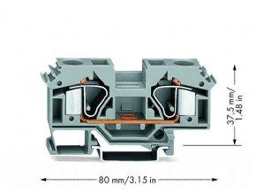 Svorka Wago 2 vodičová průchozí svorka 16 mm2 283-601