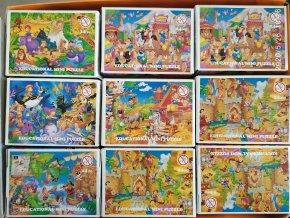 Puzzle 24 dílků motiv pohádkové příběhy 6 obrázků 12,3x16,8cm