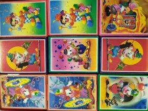 Puzzle 24 dílků motiv KLAUN ŠAŠEK 6 obrázků 12,3x16,8cm