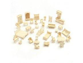 3D Dřevěné puzzle - nábytek pro panenky Wooden Toy