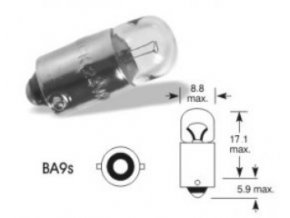 Autožárovka žárovka ELTA 24V 2W - Ba9s do signalizačí hlavice T6