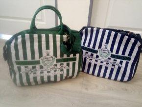 Plážová nákupní taška modrá, zelená