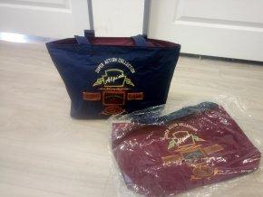 Alpine plážová nákupní taška modrá, červená
