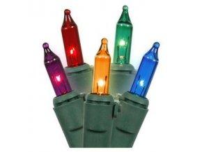 Vánoční řetěz osvětlení venkovní 120 žárovek barevné 24V