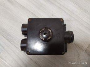Bakelitové STOP tlačítko stiskací odpojovač v krabici MEZ 25A 380V