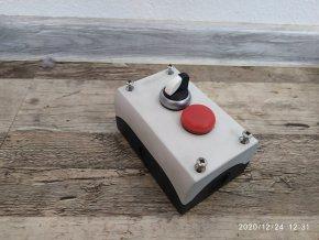 Krabice Stanice Eaton Moeller M22-I2-M1 s vypínačem a signálkou