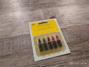 Vánoční žárovky náhradní 230V 13V 0,09A barevné