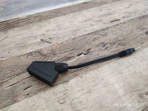 Redukce AV Scart 21 pin --> jack 3 pin 3,5 mm