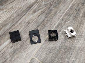 Díly pro hlavice T6 spojovací díl, základová deska, nosič štítku