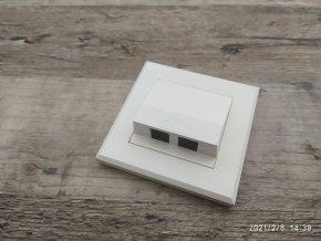 Telefonní dvojzásuvka pod omítku zásuvka 2xRJ12