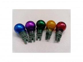 Vánoční žárovky náhradní perly 7V barevné