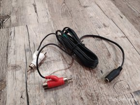 Audio kabel 1xjack 3,5 x 2xcinch+2xcinch F/M 1.5m