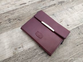 Retro kožené pouzdro na zápisník DOM včetně propisky